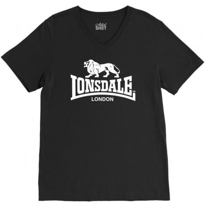 Lonsdale Classic Logo Lion V-neck Tee Designed By Hezz Art