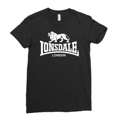 Lonsdale Classic Logo Lion Ladies Fitted T-shirt Designed By Hezz Art