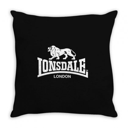 Lonsdale Classic Logo Lion Throw Pillow Designed By Hezz Art