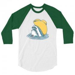 funny hat shark 3/4 Sleeve Shirt | Artistshot