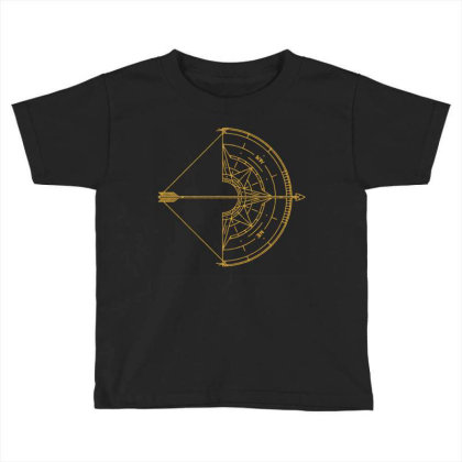 Bow And Arrow Compass Toddler T-shirt Designed By Randlros