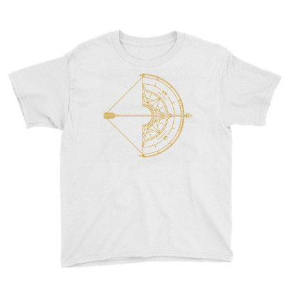 Bow And Arrow Compass Youth Tee Designed By Randlros