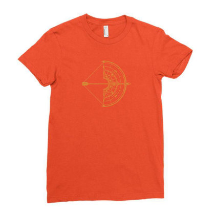 Bow And Arrow Compass Ladies Fitted T-shirt Designed By Randlros