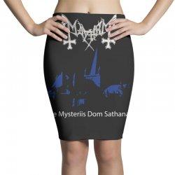 mayhem de mysteriis dom sathanas Pencil Skirts | Artistshot
