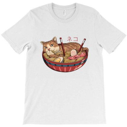Neko Ramen T-shirt Designed By Everys