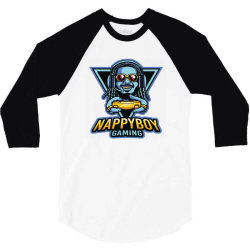 nappy boy gaming 3/4 Sleeve Shirt | Artistshot