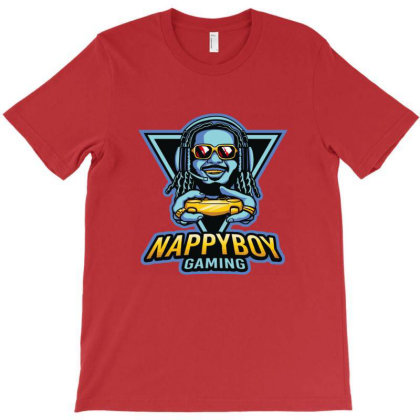 Nappy Boy Gaming T-shirt Designed By Everys