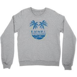 pacifico palm trees Crewneck Sweatshirt   Artistshot