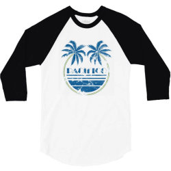 pacifico palm trees 3/4 Sleeve Shirt   Artistshot