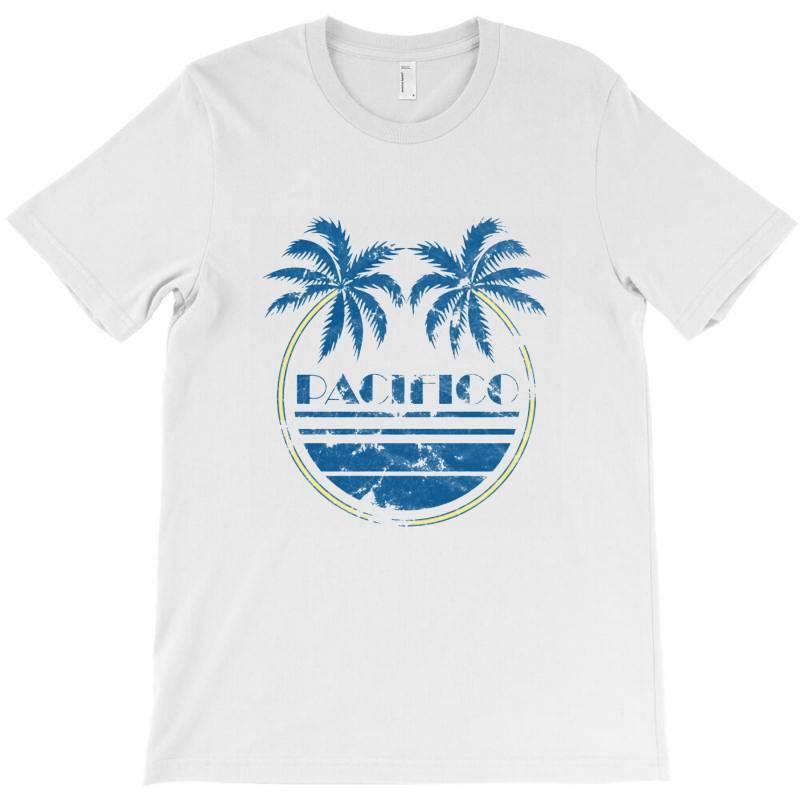 Pacifico Palm Trees T-shirt   Artistshot