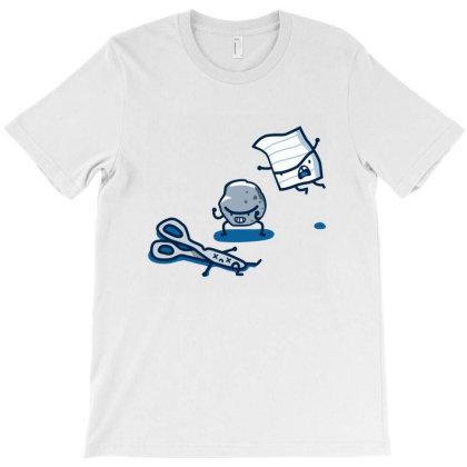 Paper Scissor Rock Fight T-shirt Designed By Everys