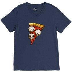 pizza skullgioni V-Neck Tee | Artistshot