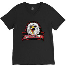 eagle fang karate V-Neck Tee | Artistshot