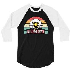 eagle fang karate vintage retro 3/4 Sleeve Shirt | Artistshot