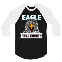 eagle fang karate funny 3/4 Sleeve Shirt | Artistshot
