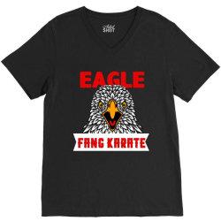 eagle fang karate funny V-Neck Tee | Artistshot