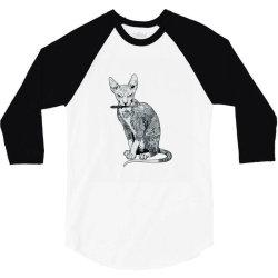 My cat is gangster 3/4 Sleeve Shirt | Artistshot