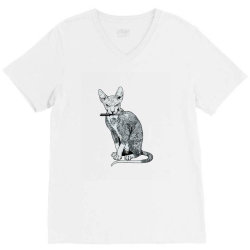 My cat is gangster V-Neck Tee | Artistshot
