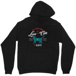Love and cats Unisex Hoodie | Artistshot