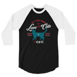 Love and cats 3/4 Sleeve Shirt | Artistshot