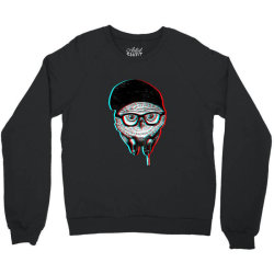 hipsters  owl Crewneck Sweatshirt   Artistshot