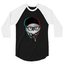 hipsters  owl 3/4 Sleeve Shirt   Artistshot