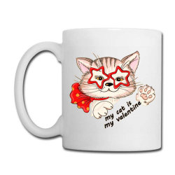 My Cat Is My Valentine - Cat Lover - Valentines Day Coffee Mug Designed By Samlombardie