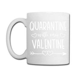 Quarantine With My Valentine Coffee Mug Designed By Samlombardie