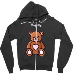 Sell Valentine's Day - Hug Me Zipper Hoodie Designed By Kamim.rogers