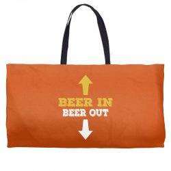 Beer in Beer out Weekender Totes | Artistshot