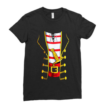 Pirate Buccanneer Ladies Fitted T-shirt Designed By Dorothy Tees