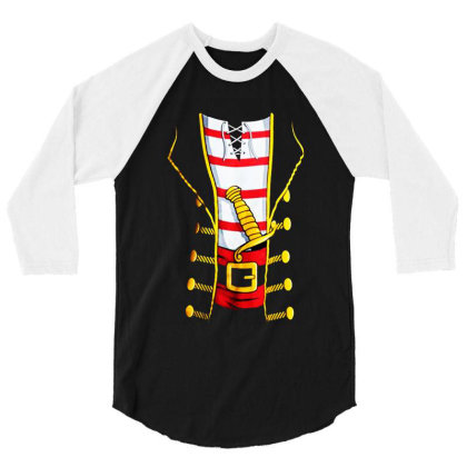 Pirate Buccanneer 3/4 Sleeve Shirt Designed By Dorothy Tees