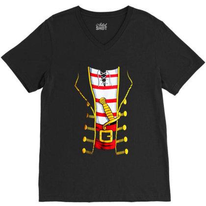 Pirate Buccanneer V-neck Tee Designed By Dorothy Tees