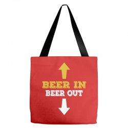 Beer in Beer out Tote Bags | Artistshot