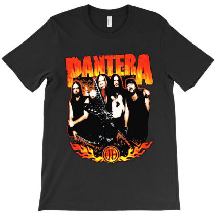Pantera Flames T-shirt Designed By Kevin Design
