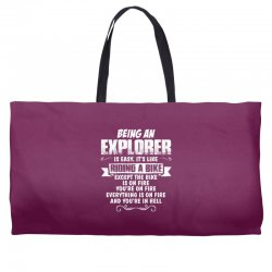 being an explorer Weekender Totes | Artistshot
