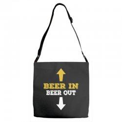 Beer in Beer out Adjustable Strap Totes | Artistshot