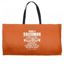 being a salesman Weekender Totes | Artistshot