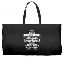 being a sales representative Weekender Totes | Artistshot