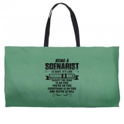 being a scenarist copy Weekender Totes | Artistshot