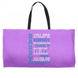 DADDY - Fathers Day - Gift for Dad Weekender Totes | Artistshot
