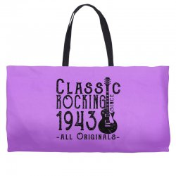rocking since 1943 Weekender Totes | Artistshot
