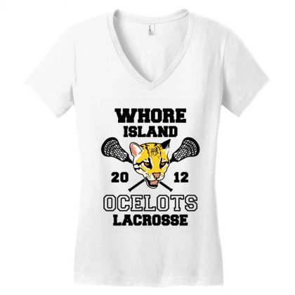 Whore Island Women's V-neck T-shirt Designed By Dorothy Tees