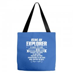 being an explorer Tote Bags | Artistshot