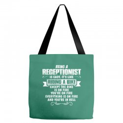 being a receptionist Tote Bags | Artistshot