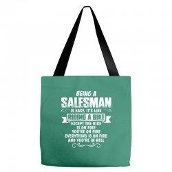 being a salesman Tote Bags | Artistshot