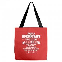 being a secretary Tote Bags   Artistshot