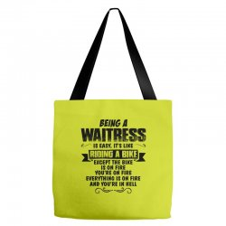 being a waitress copy Tote Bags | Artistshot