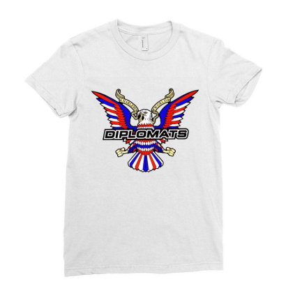 Diplomats Music Ladies Fitted T-shirt Designed By Leo Art