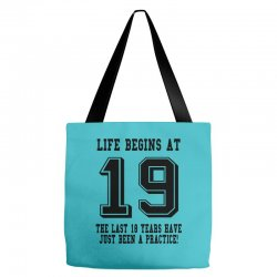 19th birthday life begins at 19 Tote Bags | Artistshot